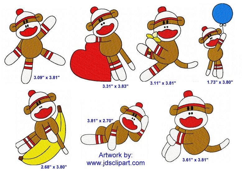 Sock Monkey Coloring Page - Coloring Home | 557x778