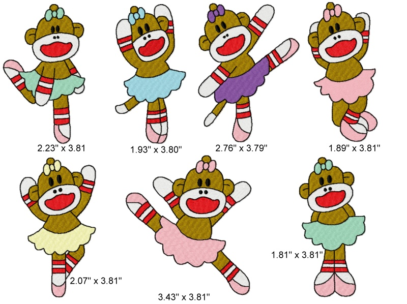 Spunky Monkey Embroidery Designs